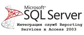 Интеграция служб Reporting Services в Access 2003