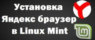 Установка Яндекс браузер в Linux Mint