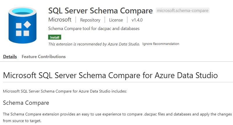 SQL Server Schema Compare