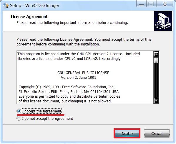Win32 Disk Imager – простая программа для создания (записи) образа